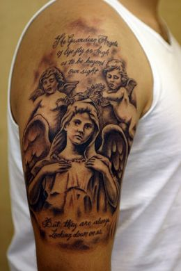 tattoos design ideas angel tattoos on arm for men and girls design