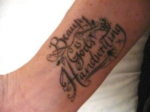 beauty love quote tattoos