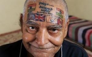 Bad face tattoos man