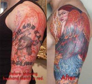 angel arm tattoos design ideas