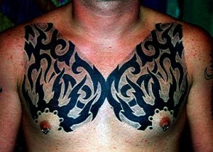 tribal tattoo ideas on chest