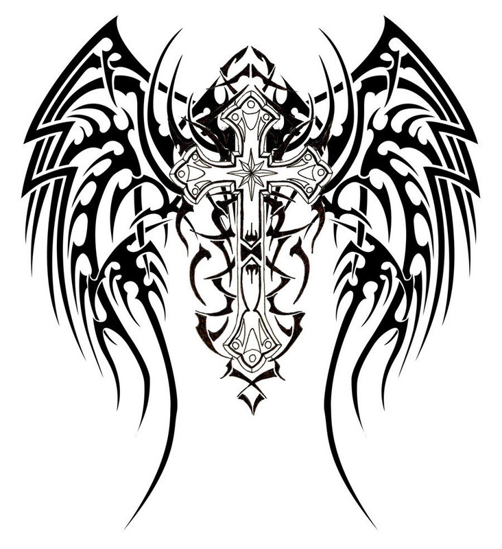 Celtic Cross Tattoo Designs on scary backgrounds for desktop